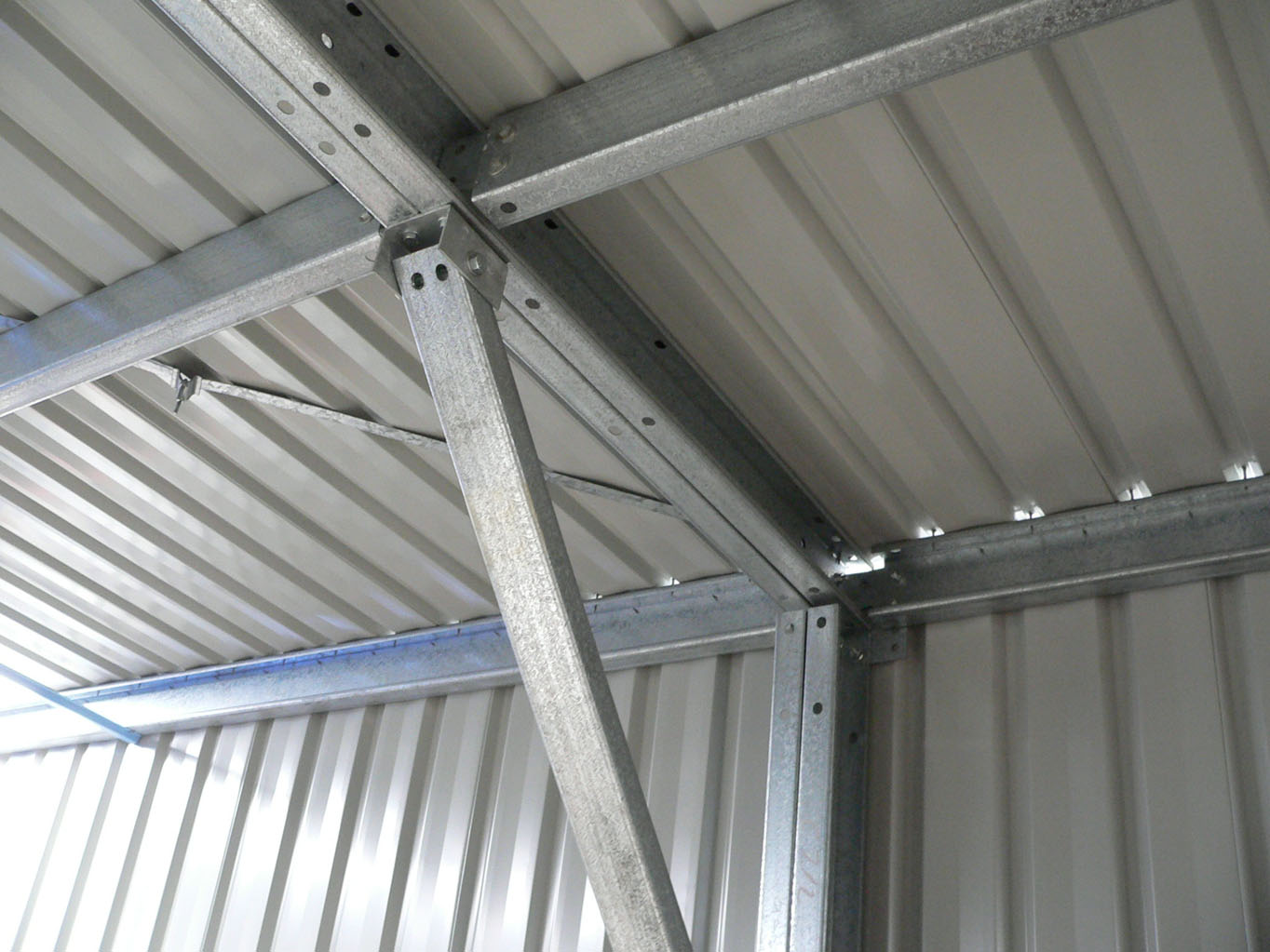 Steel Framed Sheds : Farm sheds hay hangars barns machinery